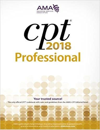 CPT 2018 Professional Edition (Cpt / Current Procedural Terminology (Professional Edition)) 9781622026005 Medicine & Health Science  @