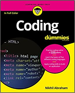 Coding For Dummies (For Dummies (Computers)) 1, Abraham, Nikhil